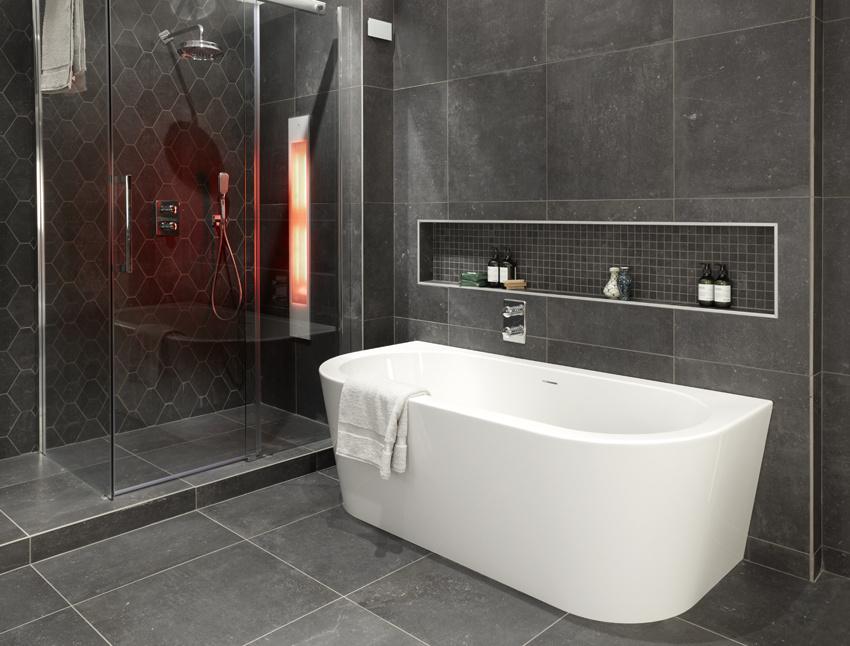 Muurverf Badkamer Betonlook : Betonlook badkamers bij wooning