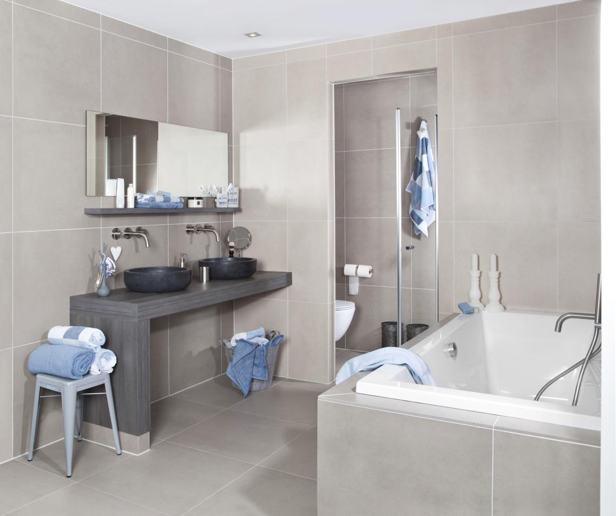 Badkamer met landelijke elementen
