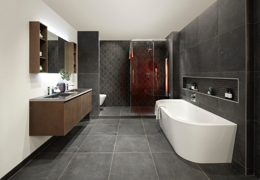 Betonlook badkamer Wooning