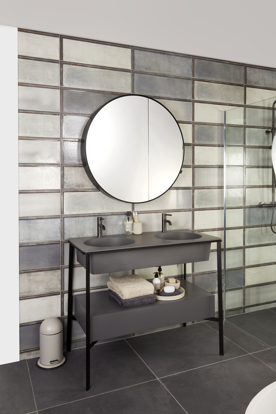 Badkamer industriële elementen