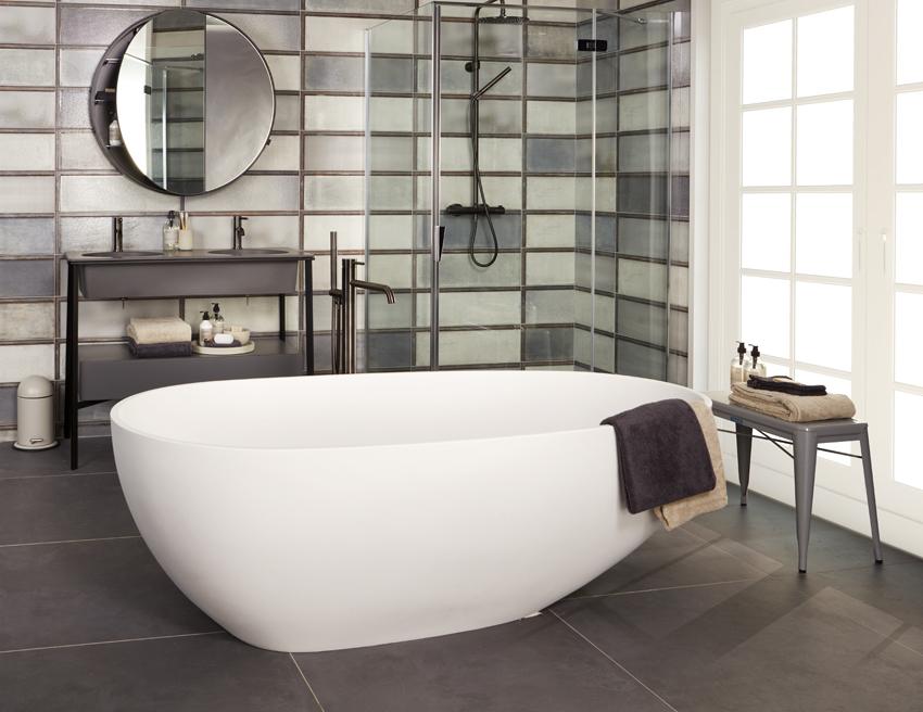 Een Gezellige Badkamer : Industriële badkamers wooning