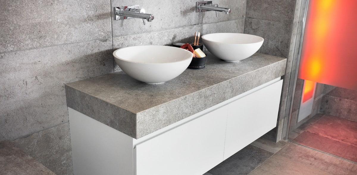 badkamer met betonlook Wooning