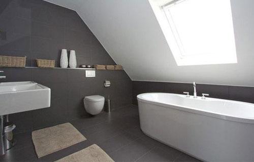 Badkamer Gezellig Maken : Badkamer met schuin dak wooning