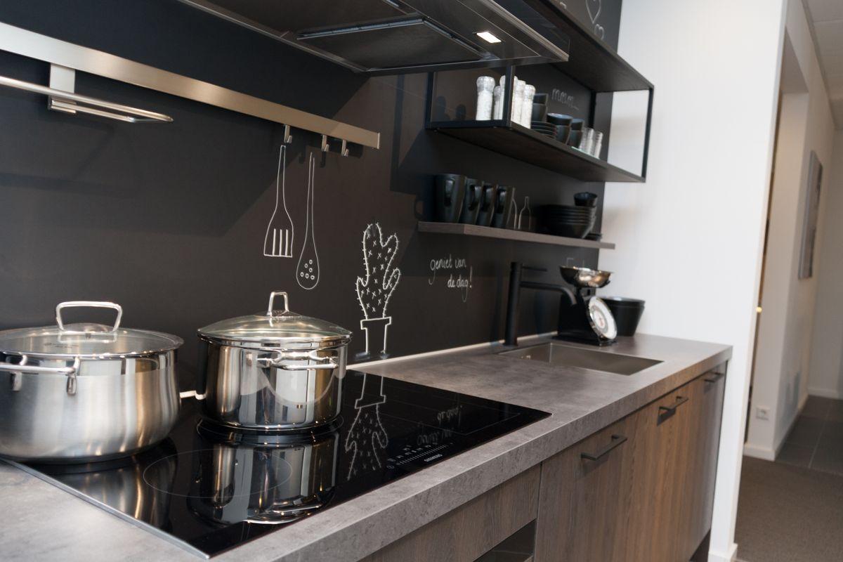 Rechte keuken - industrieel