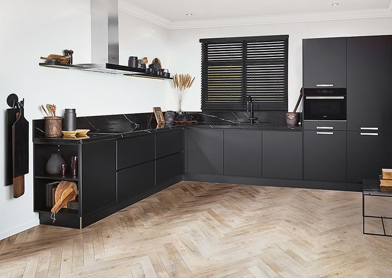 Keuken met houtlook vloer