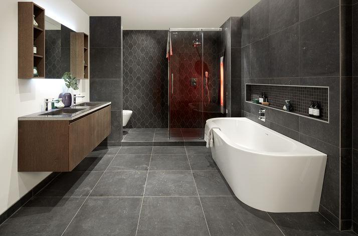 Badkamer Onderkast Badkamerlamp : Industriële badkamers wooning