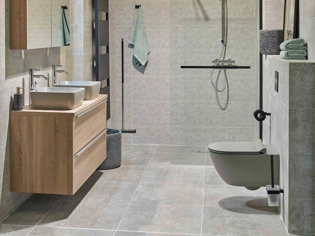 beton en hout badkamer