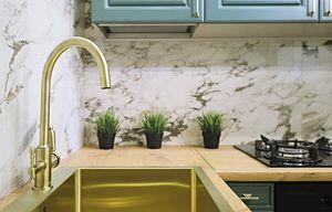 gouden elementen in keuken
