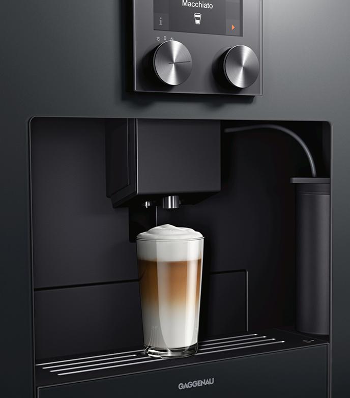 Koffiezetapparaat op hoogte
