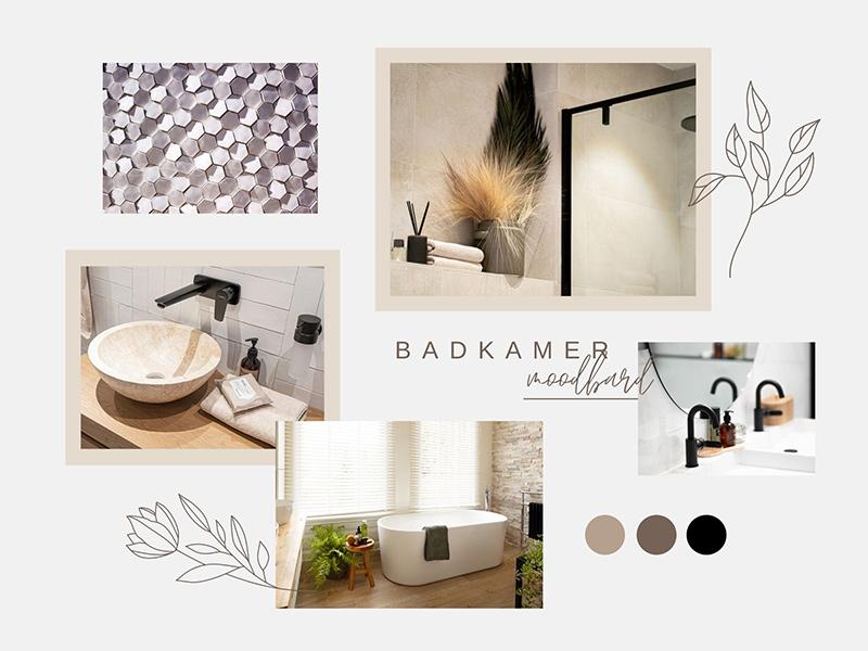 Moodboard voor badkamer