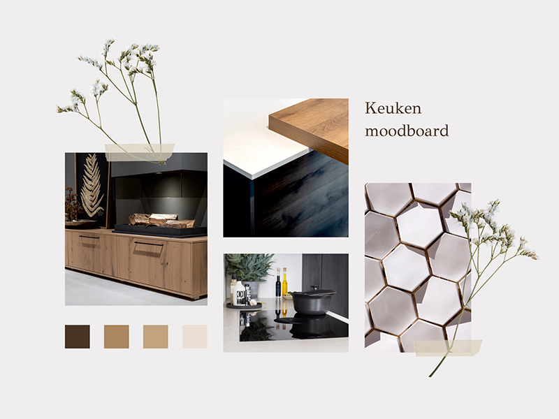 Moodboard voor keuken