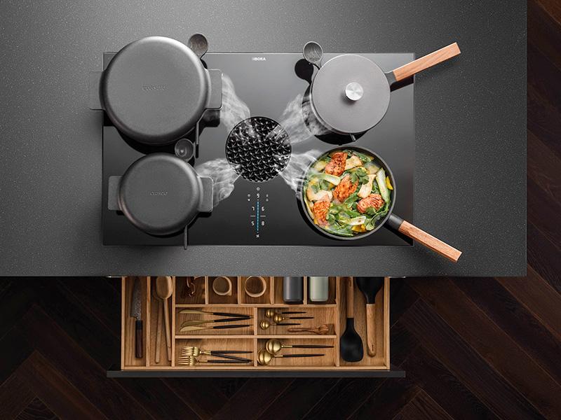 Hoe werkt een BORA kookveldafzuiging?