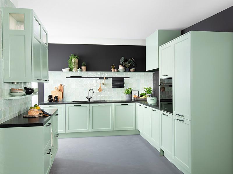 Wandkasten in de keuken