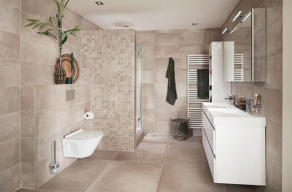 Zandkleur badkamer